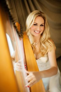Cheryl Angela and her harp.